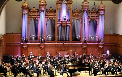 Andrei Gugunin (piano) and the Russian National Orchestra under the direction of Vladimir Gorbik